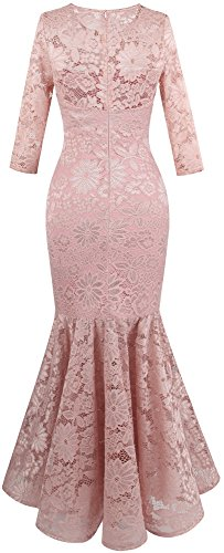 Floral De fashions Noche Rosa Cordon Angel Claro Mujer Sirena Vestido cWEfngXO