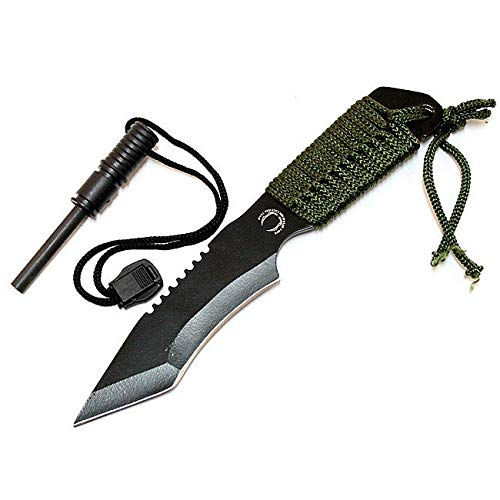 Defender 7-inch String Handle Carbon Steel Blade Hunting Knife