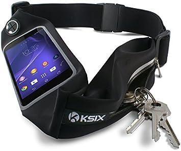 Ksix BXCIN03 - Cinturón deportiva con funda para smartphone y ...