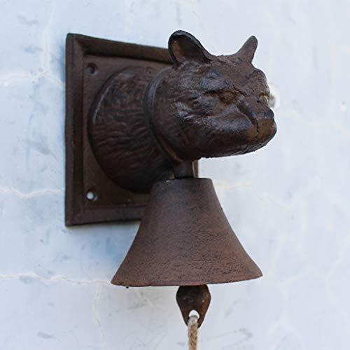 [해외]LRW Vintage Cast Iron Cat Head Style Doorbell Antique Iron Wall Pendant Cafe Hand Bell / LRW Vintage Cast Iron Cat Head Style Doorbell Antique Iron Wall Pendant Cafe Hand Bell
