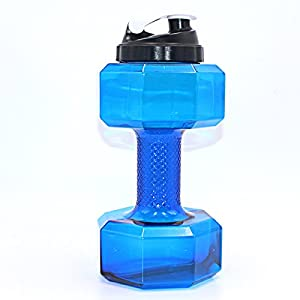 2.2 Litre Water Bottle,BPA Free Half Gallon Water Bottle - Drinking Container Jug - Resin Fitness Bottle for Gym,Dieting,Bodybuilding,Outdoor Sports,Hiking & Office Leisure Fitness By SGODDE (blue 2)
