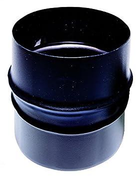 CHIMENEA socket macho / macho de 80 mm para estufa de pellets o tubo de acero esmaltado negro de madera 600 grados ce fabricado en Italia: Amazon.es: Jardín