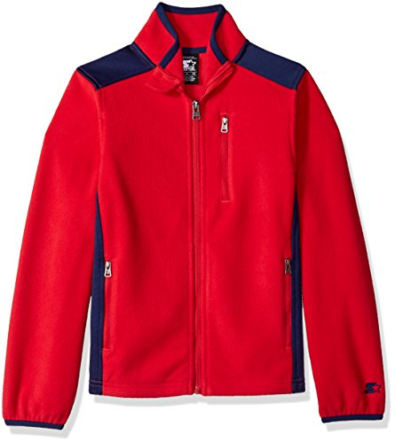 Starter Boys' Polar Fleece Jacket, Amazon Exclusive, Team Red, L (12/14) ()