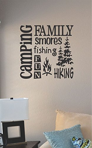 Amazon.Com: Camping Family Smores Vinyl Wall Art Decal Sticker