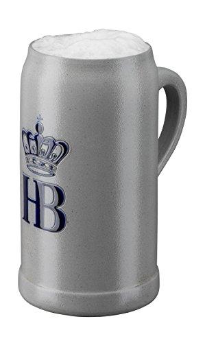 (German Beer Mug Munich Hofbräuhaus München HB mug saltglazed 1 liter King Werk KI 1000065)