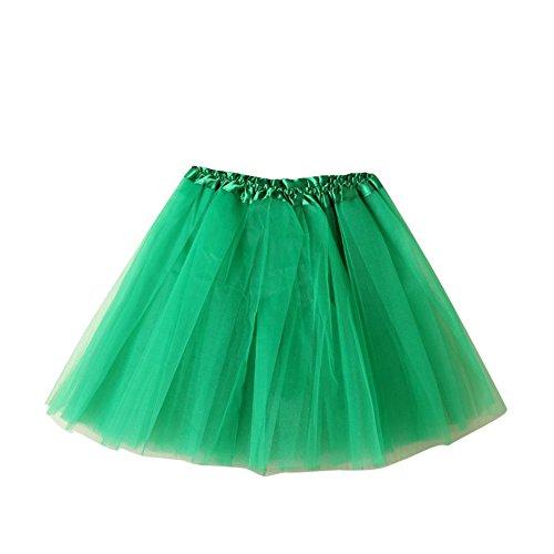 Dentelle Jupe Mini Soire SaiDeng Femme Bouffe Pliss Dguisement Bal Courte Fonc Danse Cosplay Jupon Elastique Pour Tutu Jupe En Princesse Ballet Tulle Costume Vert qq6YZ