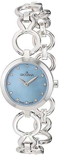 Grovana Women's 'Ladies Dressline' Swiss Quartz Stainless Steel Casual Watch, Color:Silver-Toned (Model: 4569-1135)