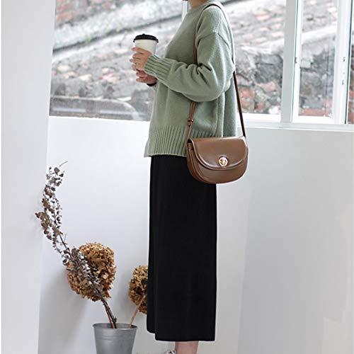Brown Zebuakuade Beige Nero Borsa Cerniera Tracolla Posteriore Pelle Con Donna In Mini Marrone Diagonale beige A color Per TTUnqaOr