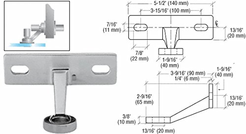 Spider Mount Frame - CRL Brushed Stainless Regular Duty Single Arm Fin Mount Frame Spider