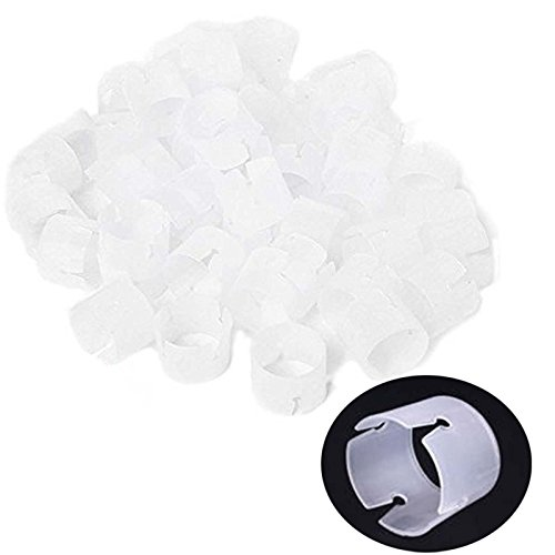 Pack of 60 Decorative Decor Balloon Rings Balloon Arch Folder Convenient Clip Multiple Accessories (Balloon Clip only ,others not (Halloween Decor With Balloons)