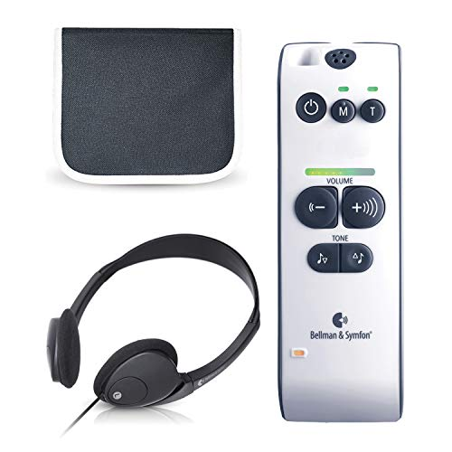 Maxi Personal Sound Amplifier for Difficult Hearing Situations   Bellman & Symfon   Clarifies Sound with Minimum Feedback   Digital Audio Enhancement   Easy to Use with Batteries & Headphones Included