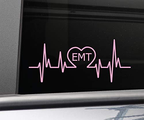 - Nashville Decals EMT Emergency Medical Technician Heartbeat Vinyl Decal Laptop Car Truck Bumper Window Sticker, 8