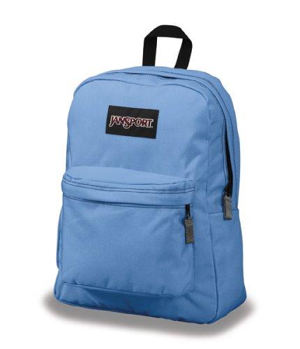 JanSport Superbreak Classic Backpack Blue Bunny Asian Daisy Corduroy