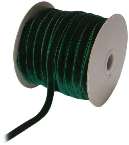 Velvet Ribbon Trim - May Arts 3/8-Inch Wide Ribbon, Green Velvet