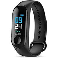 Buddymate Fit-3 Multi-Sports Mode Fitness Wristband | Color OLED Display | Built-in Sports App Compatible with All Android,iOS & Windows Device (Random Colour)