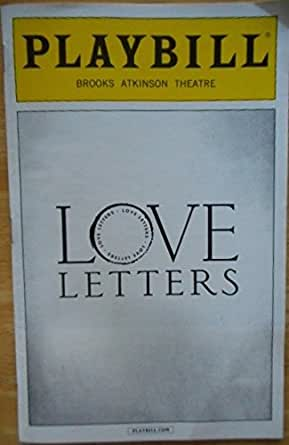 Playbill From Love Letters Starring Brian Dennehy Carol