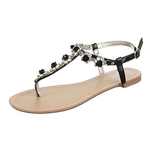 Femme Design Mode Ital Sandales la Noir à 1481Hq0