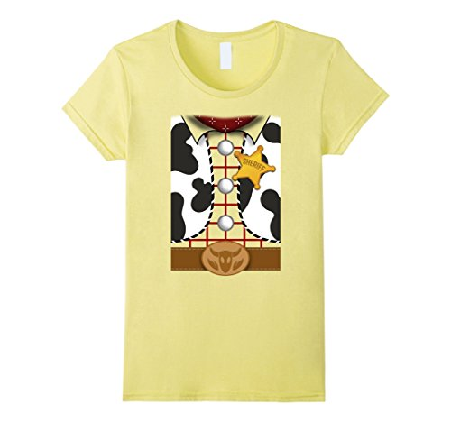 Womens Disney Pixar Toy Story Woody Shirt Costume Graphic T-Shirt Small Lemon for $<!--$22.99-->
