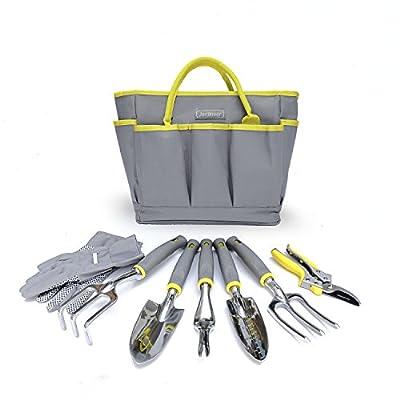 Jardineer Garden Tool Set, 8PCS Gardening Tools Kit with Garden Hand Tools, Gardening Gloves and Garden Tools Bag, Perfect Gardening Tools for Woman and Men