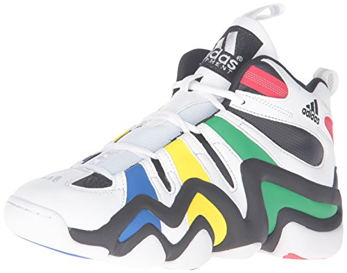 adidas Performance Men's Crazy 8 Basketball Shoe, Black/White/Vivid Green adidas Performance Child Code (Shoes)