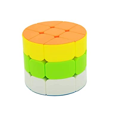 AI-YUN 3x3x3 Magic Cube 5 Color 3 Layer Cylindrical Speed Cube Kids Puzzle Toys: Toys & Games