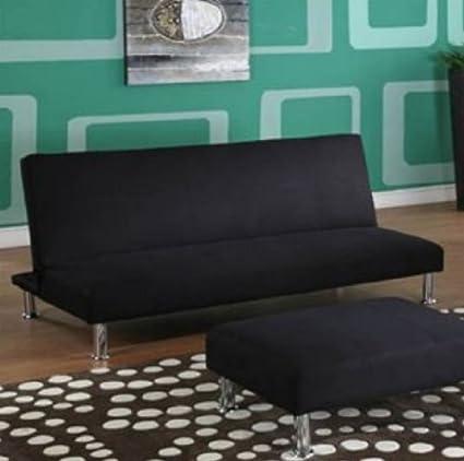 InRoom Designs 033BL-S-2018 Sofa, Black