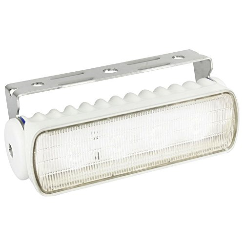 - Hella 980573021 Sea Hawk LED Deck Lamp White Lens White Housing Spread Light MV Sea Hawk LED Deck Lamp