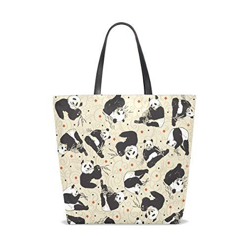 L'épaule Bears Pour À Sac Seamless Tote Pattern 001 With Pandas Femme Taille Porter Bennigiry Unique tPq0Bt