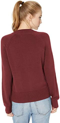 Amazon Brand - Daily Ritual Women's 100% Cotton Mock-Neck Pullover Sweater