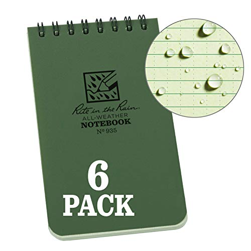 Rite In The Rain Weatherproof Top Spiral Notebook, 3