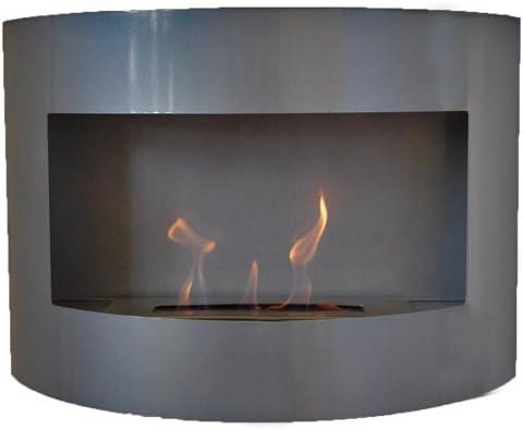 brûleur 1 litre Cheminée à bio éthanol Riviera Deluxe Rouge cheminée murale