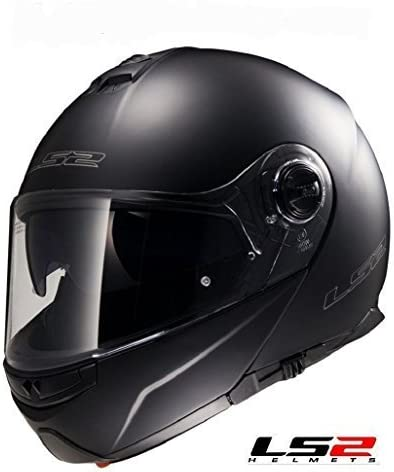 Hi Viz New for 2019 LS2 FF325 Strobe Flip Up Motorcycle Helmet Black White