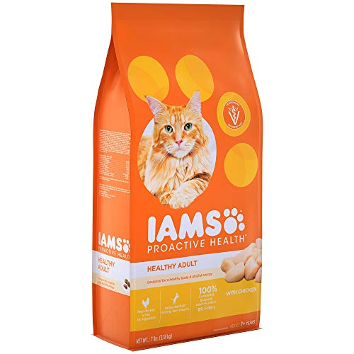 Iams Proactive Health Healthy Adult Dry Cat Food With Chicken, 7 Lb. Bag