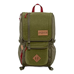 JanSport Unisex Hatchet Special Edition Army Green Felt Backpack