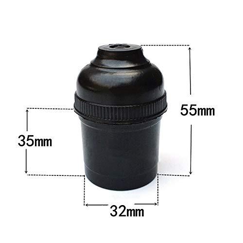 Soporte para l/ámpara de techo de color negro vintage casquillo de rosca E27 5 unidades