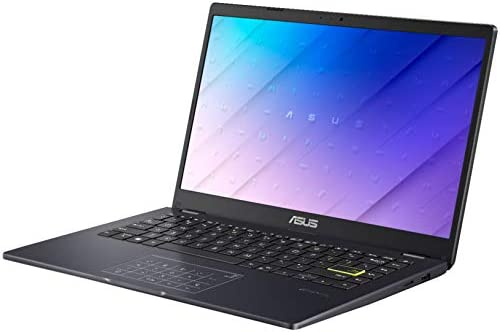 "ASUS E410 14"" Lightweight Laptop Computer, Intel Celeron N4020 up to 2.8GHz, 4GB DDR4 RAM, 128GB eMMC, 802.11AC WiFi, Bluetooth, HDMI, Webcam, Remote Work, Blue, Windows 10 S, iPuzzle Type-C HUB"