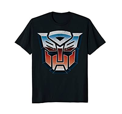 Transformers Distressed Retro Robot Shield Graphic T-Shirt