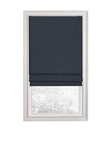 (Regal Home Collections Premium Room Darkening Cordless Roman Shades - Assorted Sizes, Styles & Colors (Aztec Navy, 35 in.))