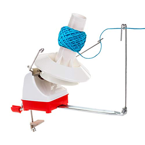 - Yarn Ball Winder, Effective Jumbo Size 7-Ounce Capacity Hand Operated Yarn Winder Spinner Baller Roller for Thick Large Wool Yarns Storage Sewing Knitting Crocheting Needs with Crochet Tips Ebook