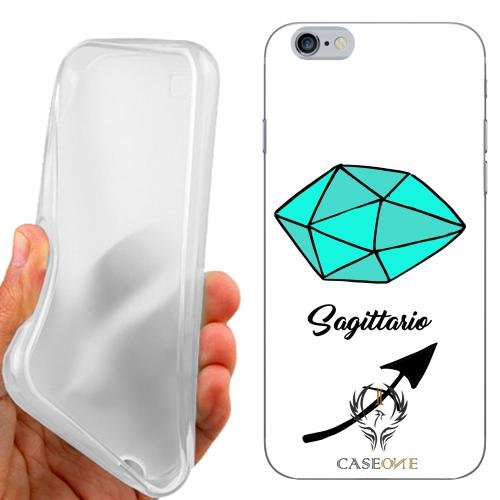 CUSTODIA COVER CASE CASEONE SAGITTARIO TURCHESE BIANCO PER IPHONE 6S