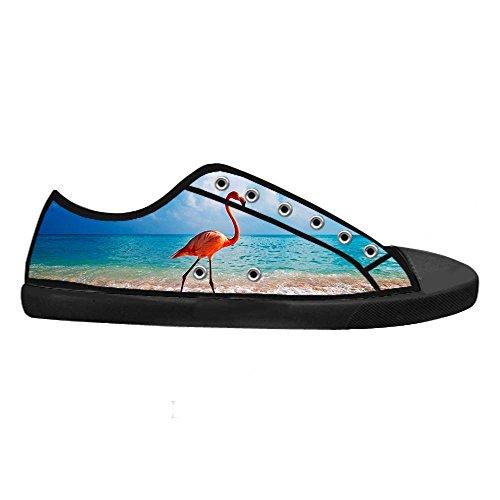 Dalliy Pink Flamingo Mens Canvas shoes Schuhe Lace-up High-top Sneakers Segeltuchschuhe Leinwand-Schuh-Turnschuhe A