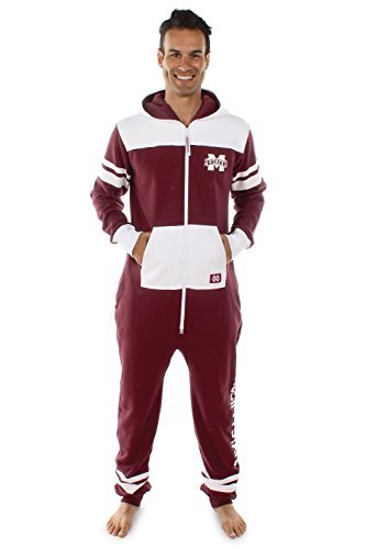 Tipsy Elves Mississippi State University Jumpsuit MSU Bulldogs Clothing (X-Small) Red -