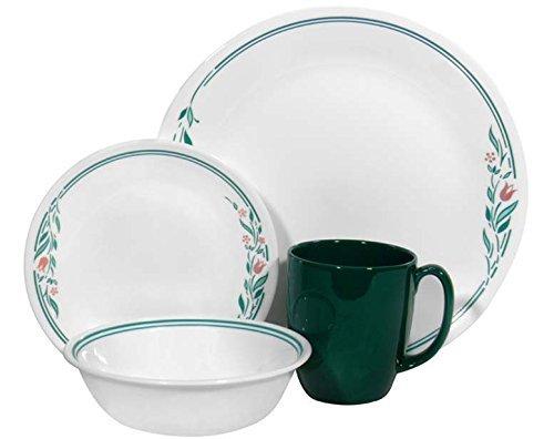 Corelle Livingware 16 piece Dinnerware Set, Service for 4, Rosemarie