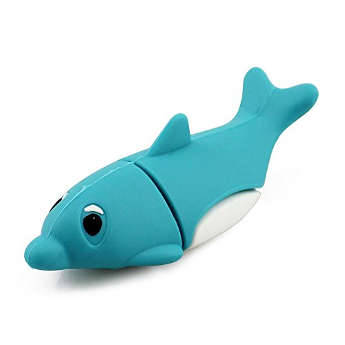 CHUYI Novelty 32GB USB Flash Drive Dolphin Shape Memory Stick Thumb Drive Gift