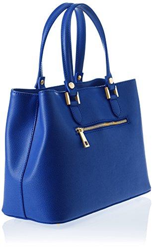 Chicca Borse 8656, Borsa a Spalla Donna, 30x22x14 cm (W x H x L) Blu (Blue)