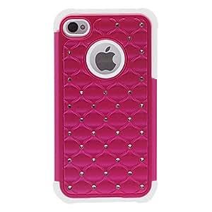 conseguir Zircon Ornamento 2 en 1 de silicona de nuevo caso para el iPhone 4/4S (colores surtidos) , Rosa