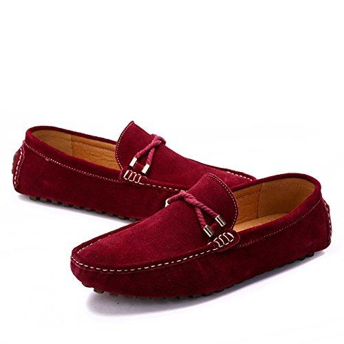 Go Tour Slip On Casual Para Hombre Mocasines De Conducción Mocasines Zapatos 1 Rojo