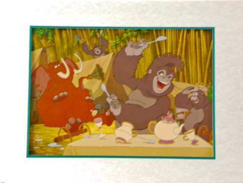 2000 - Disney's - Tarzan - Disney Store 2000 Lithograph Collection - 11x14 Inch - Matted Artwork - New - Rare - Out of Print - Collectible (Rare Sherry)