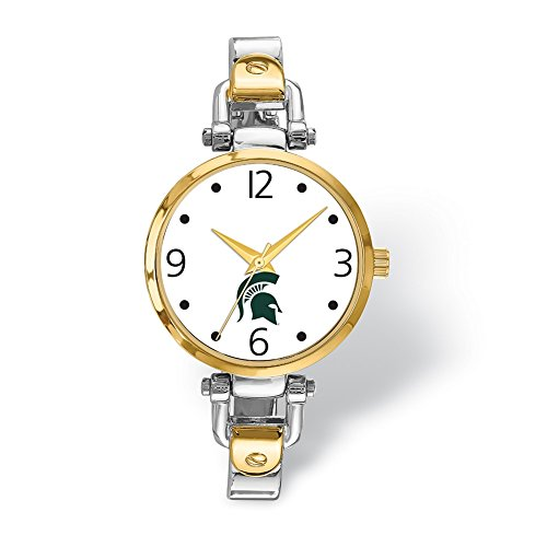 Lex & Lu LogoArt Michigan State University Elegant Ladies 2-tone Watch