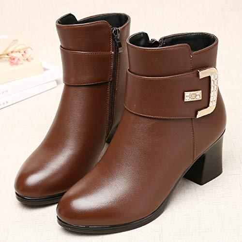 Twilight C C Shukun Bottes Bottes des mères Bottes d'hiver des Femmes épaisses avec épaissie avec des Bottes Martin Chaussures pour Femmes Chaussures en Coton Chaussures d'Âge Moyen  produit de qualité